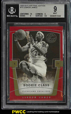 2003 Flair Final Edition LeBron James ROOKIE RC 799 75 BGS 9 MINT PWCC