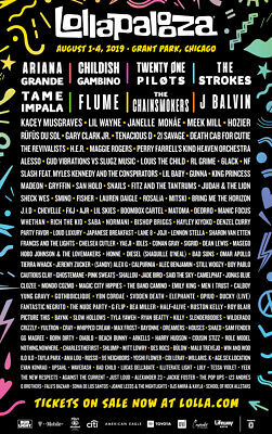 Lollapalooza Festival 2019 4-Day General Admission Ticket