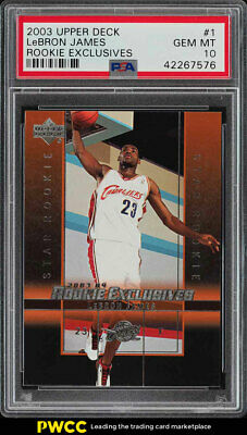 2003 Upper Deck Exclusives LeBron James ROOKIE RC 1 PSA 10 GEM MINT PWCC