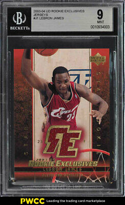 2003 Upper Deck Exclusives LeBron James ROOKIE RC PATCH BGS 9 MINT PWCC