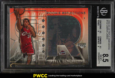 2003 Upper Deck Triple Dimensions LeBron James ROOKIE 999 132 BGS 8-5 PWCC