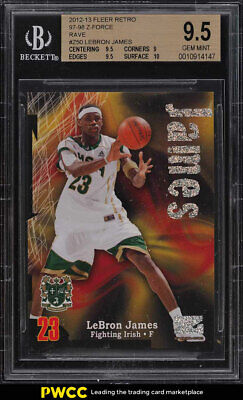 2012 Fleer Retro 97 Z-Force Rave LeBron James 399 Z50 BGS 9-5 GEM MINT PWCC