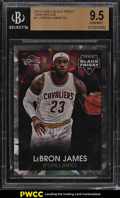 2014 Panini Black Friday Cracked Ice LeBron James 25 1 BGS 9-5 GEM MINT PWCC