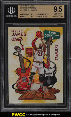 2016 Panini Studio From Downtown LeBron James 7 BGS 9-5 GEM MINT PWCC