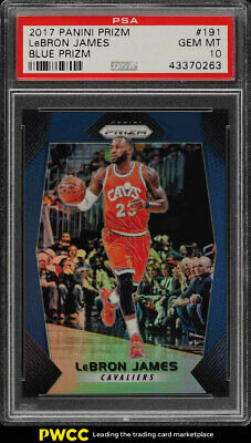 2017 Panini Prizm Blue Prizms LeBron James 199 191 PSA 10 GEM MINT PWCC