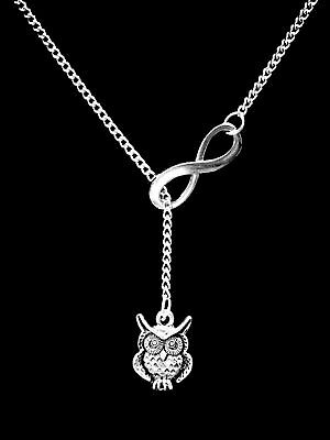 Owl Necklace Animal Nature Friend Sister Mothers Day Mom Lariat Gift Jewelry