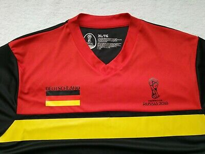 NEW Germany 2018 World Cup Jersey XL SOCCER Shirt BlackRed NWOT RARE FIFA
