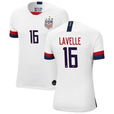 Rose Lavelle 16 USA WOMENS White 2019 World Cup 4 Star SOCCER JERSEY