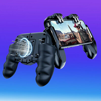 Mobile Gaming Controller 6 Finger With Cooling Fan For Fortnite PUBG Android IOS