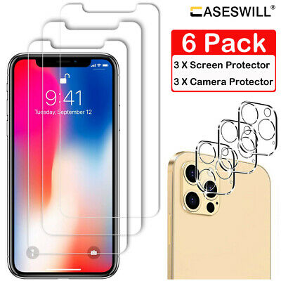 For iPhone 11 Pro X XR XS Max 8 7 6 Plus SE HD Tempered Glass Screen Protector