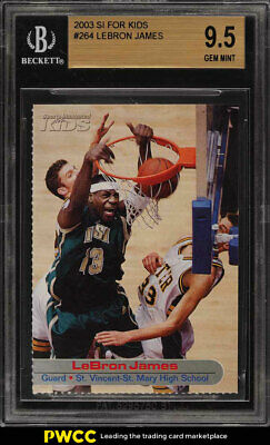 2003 Sports Illustrated For Kids LeBron James ROOKIE RC 264 BGS 9-5 GEM PWCC