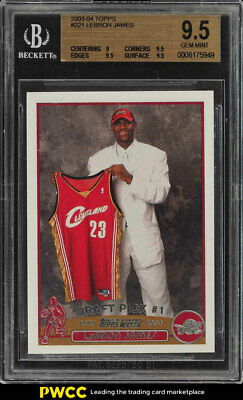 2003 Topps Basketball LeBron James ROOKIE RC 221 BGS 9-5 GEM MINT PWCC