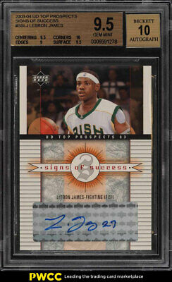 2003 UD Top Prospects Signs Of Success LeBron James ROOKIE AUTO BGS 9-5 PWCC