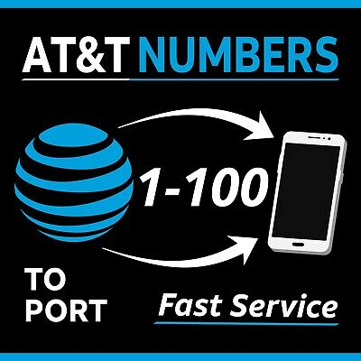 AT-T Numbers to Port - Any Area Code - Fast Delivery  Bundles 1-100  - Lot Sale