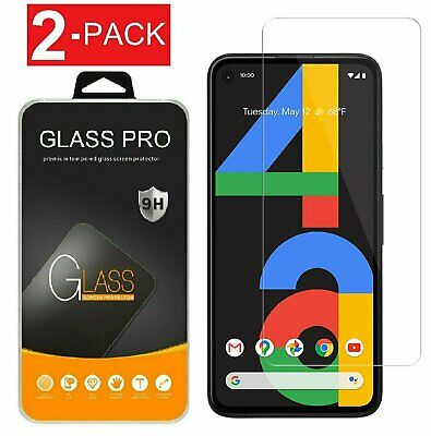 2-Pack Tempered Glass Screen Protector For Google Pixel 4  4a 4 XL