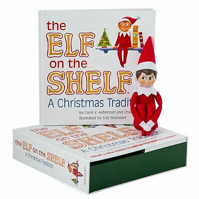 Elf on the Shelf  A Christmas Tradition Blue-Eyed Boy Light Skinned Scout Elf