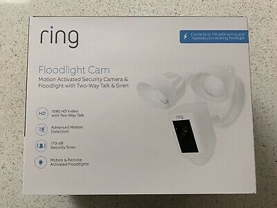 Ring Floodlight Cam Outdoor Security Camera White - BRAND NEW Factory Sealed