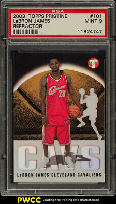 2003 Topps Pristine Refractor LeBron James ROOKIE RC 1999 101 PSA 9 MT PWCC