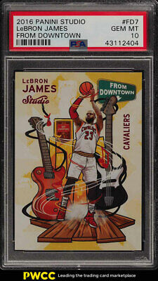 2016 Panini Studio From Downtown LeBron James FD7 PSA 10 GEM MINT PWCC
