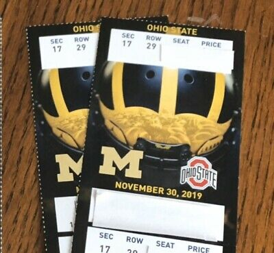 2 Michigan VS- Ohio State Football Tickets Great Aisle Seats Close To The Action