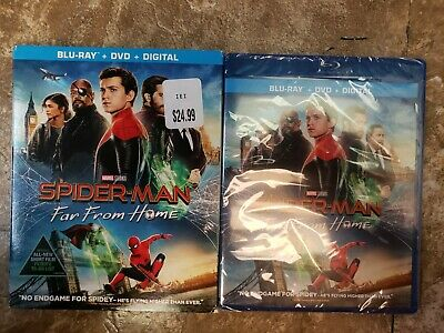 Spider-man Far From Home 2019 Blu-ray DVD Digital wSlipcover