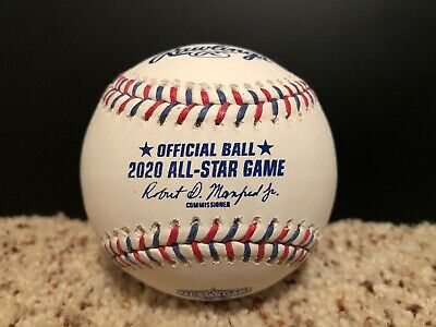 2020 All Star Game Official Rawlings MLB Baseball w Display Case