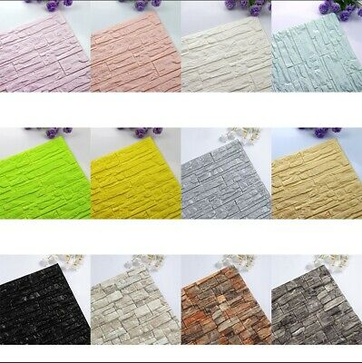 3d Tile Brick Wall Sticker Self Adhesive Waterproof Foam Panel Decor Wallpaper