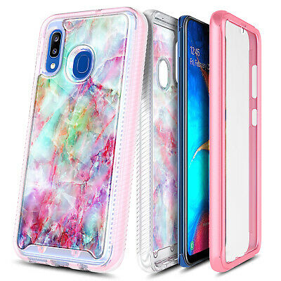For Samsung Galaxy A10E A20 A50 A51 Case Slim Built-In Screen Protector Cover