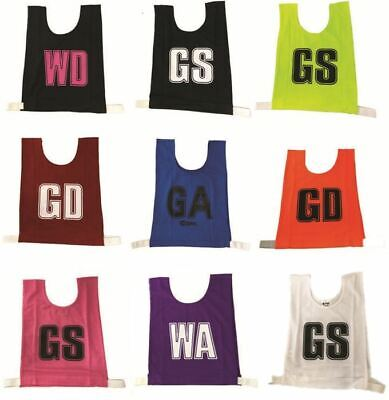 Senior Netball Bibs - Assorted Colors set of 7