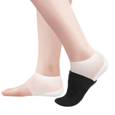 1Pairs Invisible Height Lift Heel Gel Pad Socks Liners Increase Insole Silicone
