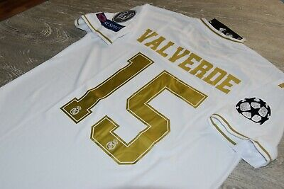 REAL MADRID VALVERDE CHAMPIONS LEAGUE JERSEY jersey SIZE S M L or XL