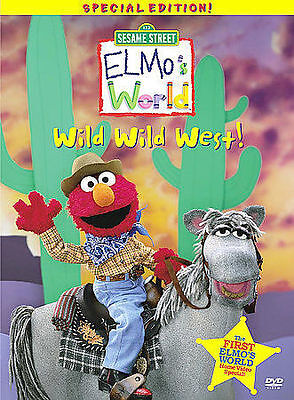 Elmos World - Wild Wild West KIDS DVD WITH ORIGINAL CASE - ART BUY 2 GET 1 FREE