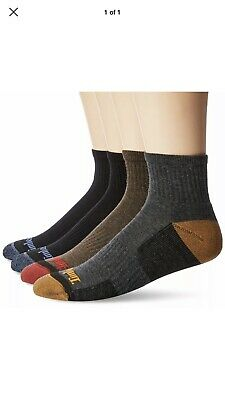 Timberland Mens 4 Pack Comfort Low Quarter Sock Assorted Brown- Free Shipping