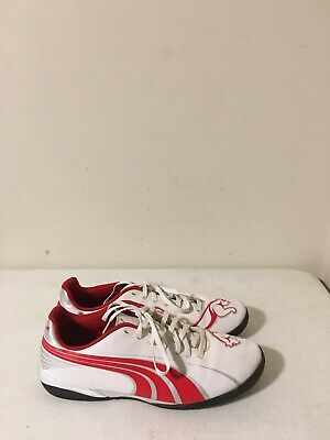 Mens PUMA Leather Athletic Shoes WhiteRed Sz 9-5