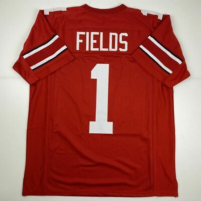 New JUSTIN FIELDS Ohio State Red College Custom Stitched Football Jersey Mens XL