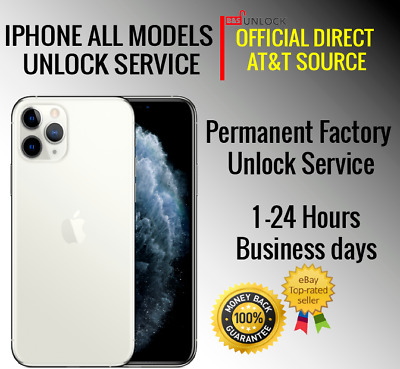 AT-T USA PREMIUM SPEED FACTORY UNLOCK SERVICE ATT FOR IPHONE X XS 8 7 SE 6 5 ALL