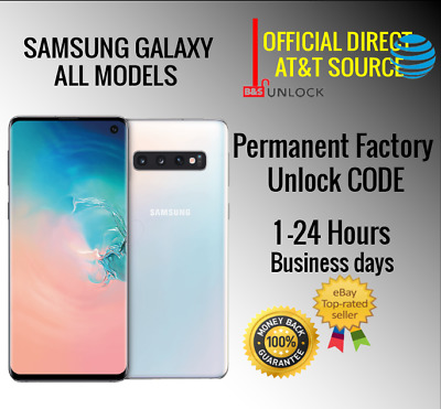 AT-T ATT UNLOCK CODE SERVICE FOR SAMSUNG GALAXY S10 S9 S8 S7 S6 S5 NOTEs ACTIVE