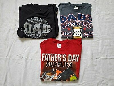 3 Mens Fathers Day Mixed T-Shirts Sz Small New