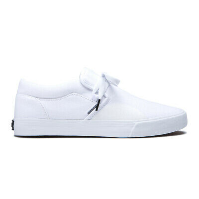 Supra Cuba Shoes Off White Mens Slip On Casual Canvas Dress Shoe Sneakers