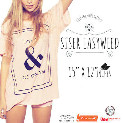 Siser EasyWeed® HTV Heat Transfer Vinyl for T-Shirts 15 by 12 Sheets