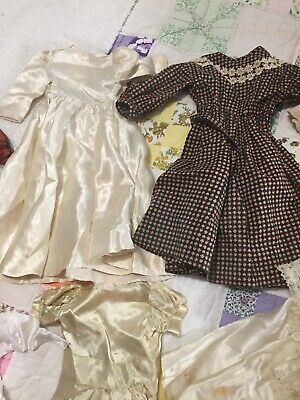 Large Lot of Vintage Doll Clothes 15 Pieces Look