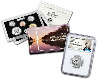 2020 W Jefferson Nickel NGC Reverse PF69 FR - 2020 Silver US Mint Proof Set