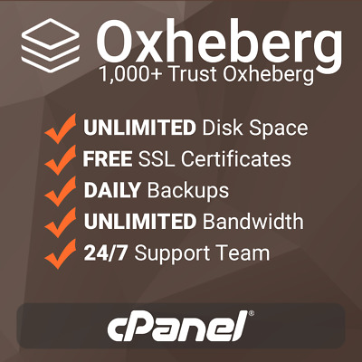 1 Year Unlimited SSD Website Web Hosting cPanel based with free SSLs - support