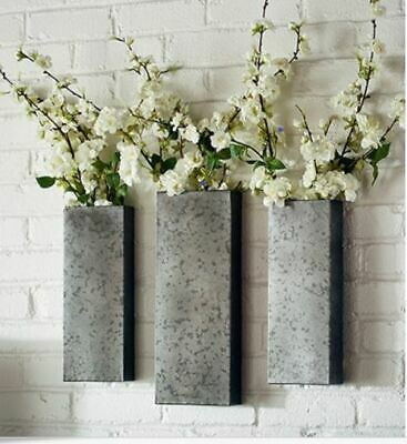 Wall Sconces Magnolia Home Box Joanna Gaines Hanging Metal Planters Set of 3 NEW