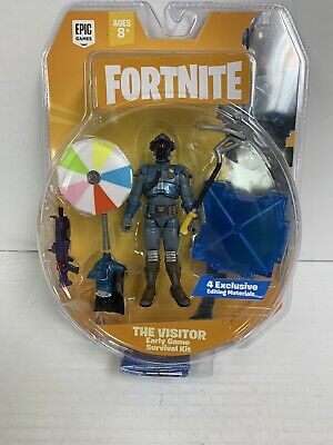 Fortnite Early Game Survival Kit with The Visitor Action Figure - 9 Piece
