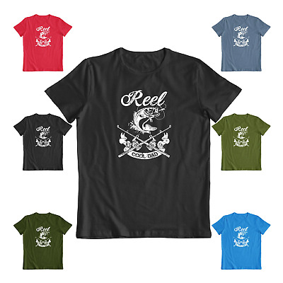 Reel Cool Dad Great fathers day casual Fishing Tee Funny Mens Gift T-shirt