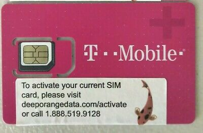 NEW TMobile 4G LTE Sim Card Unactivated- Replacement 3 IN 1 TRIPLE CUT SIM