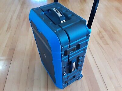 Pelican Elite Carry-On Luggage Gray with Blue Retail 399