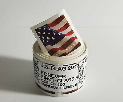 USA Flag 2017 Forever Stamps - Roll of 100 - FREE SHIPPING