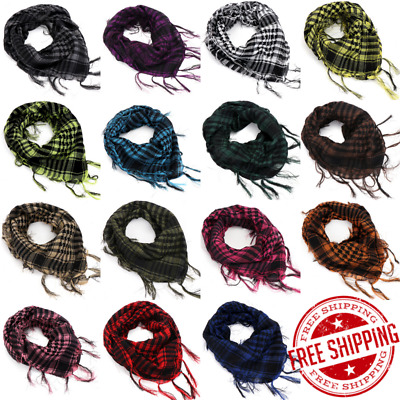 Shemagh Arab Keffiyeh Military Tactical Mens Shawl Wrap Scarf Scarves 38 x 38